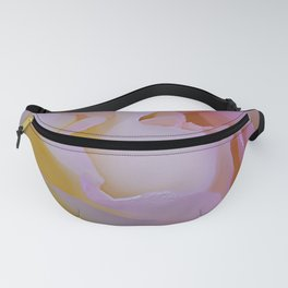 Pink rose petals kissed by raindrops Fanny Pack