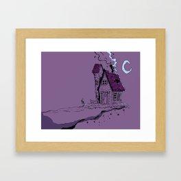 House on the Edge Framed Art Print