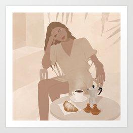 Coffe time  Art Print