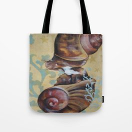 Androgynous Mating Snails: Tote Bag