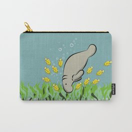 Manatee and fish Carry-All Pouch
