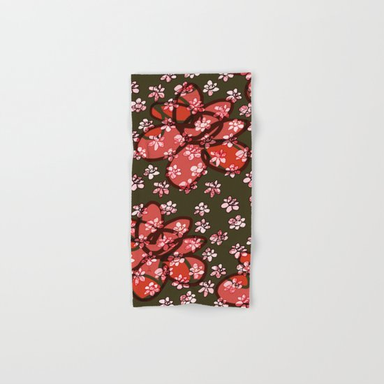 Seamless Pattern / Pink Flowers Hand & Bath Towel