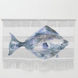 Flat Fish Watercolor Wall Hanging