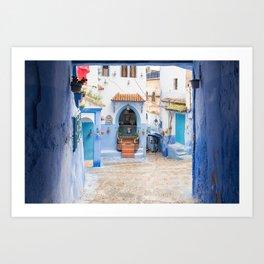 Chefchaouen III - The Blue City, Morocco Art Print