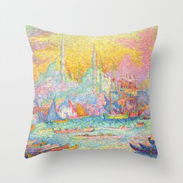 "Paul Signac ""La Corne d'Or - Constantinople"" Throw Pillow"