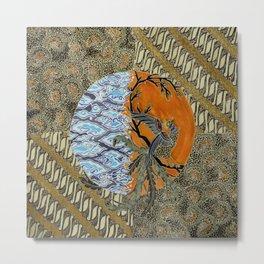 Batik Rumpi Sari Metal Print