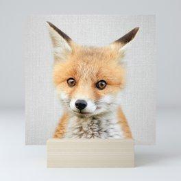 Baby Fox - Colorful Mini Art Print
