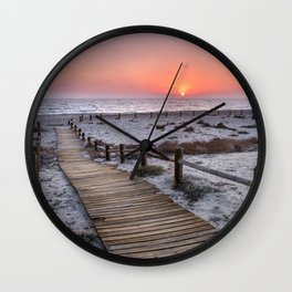 """To the beach...""Cabo de Gata"". Wall Clock"