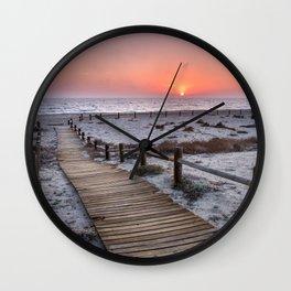 """""""To the beach...""""Cabo de Gata"""". Wall Clock"""