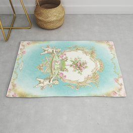 French Baroque Patisserie Tea Rug