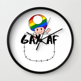 Rainbow Toad Wall Clock