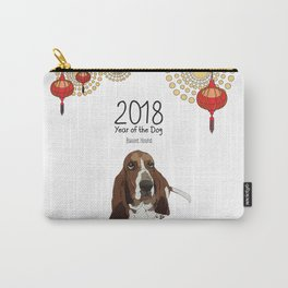 Year of the Dog - Bassett Hound Carry-All Pouch