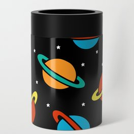 Space Planets Pattern Can Cooler