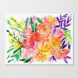BRIGHT ROSES Canvas Print