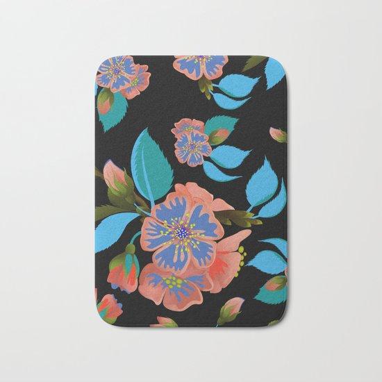 tas.color flower pattern Bath Mat