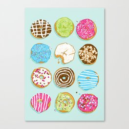 Sweet donuts Canvas Print