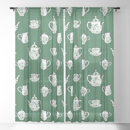 Irish Tea Party Sheer Curtain