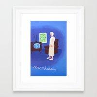 manhattan Framed Art Prints featuring Manhattan by charker