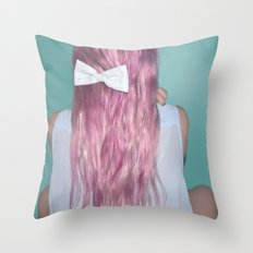 Nebula Girl Throw Pillow