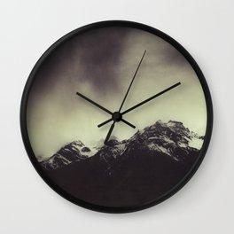 Shadow Mountain - Italian Alps Wall Clock