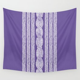 Cable Stripe Violet Wall Tapestry