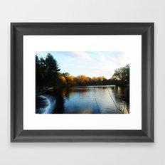 The South Natick Falls Framed Art Print