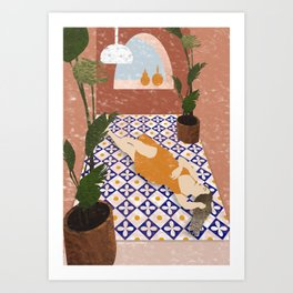 Relax and Lying Down Art Print