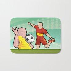 Soccer game Bath Mat