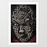 faces Art Prints featuring Faces by Suave-O