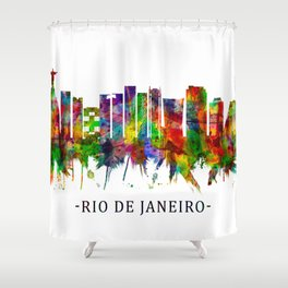 Rio de Janeiro Brazil Skyline Shower Curtain