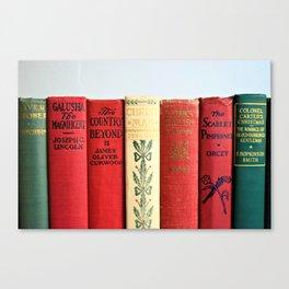 Antique Christmas Book Canvas Print