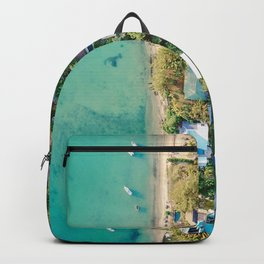 Aerial Beach View Backpack