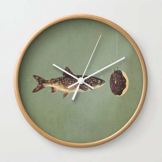 Irresistible Bait  Wall Clock