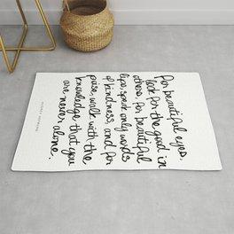 Audrey Hepburn Quote Rug