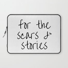 """FOB lyrics """"for the scars and stories"""" Laptop Sleeve"""