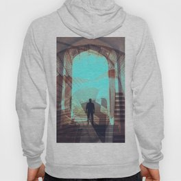 Stairways abstract photo collage Hoody