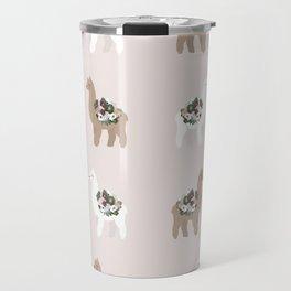 alpaca print Travel Mug