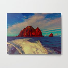 New Zealand, Bay of Islands - Hole in the Rock Metal Print