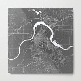 Fort Smith USA Modern Map Art Print Metal Print