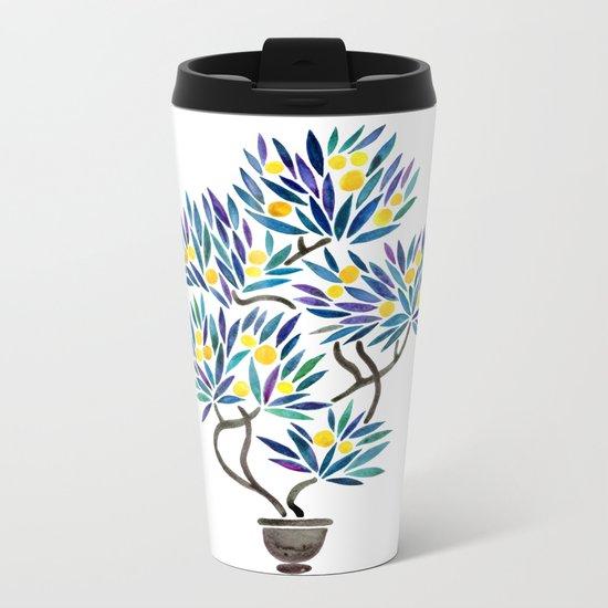 Bonsai Fruit Tree – Lemons Metal Travel Mug