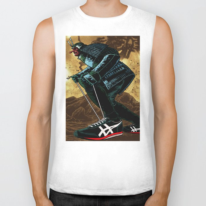 Samurai in Sneakers Biker Tank
