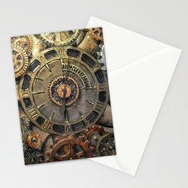 Steampunk Clock - Glass Art Stationery Cards