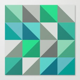 Triangles in turquoise Canvas Print