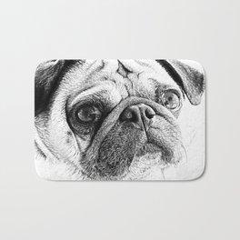 Cute Pug Art By Annie Zeno Bath Mat