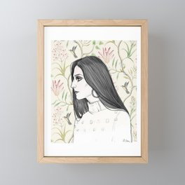Cher/Pattern Framed Mini Art Print