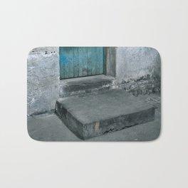 What's behind the old blue door? Bath Mat