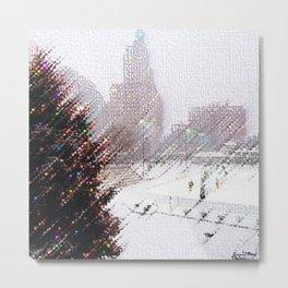 Alex & Ani Skating Center - Providence, Rhode Island Winter Scene Portrait by Jeanpaul Metal Print