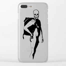 Flirting with death Clear iPhone Case