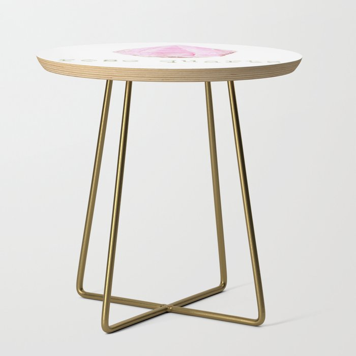 Natural Rose Quartz Side Table By Themysticmindusa Society6