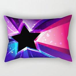 Tricolor Star Rectangular Pillow